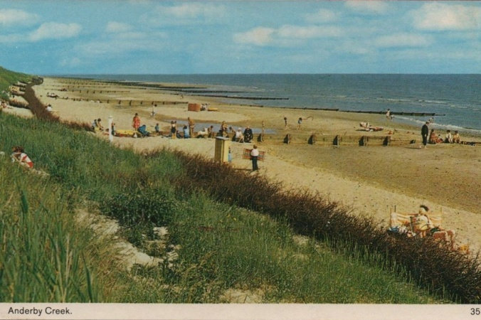 The beach at Anderby Creek in the 1950s