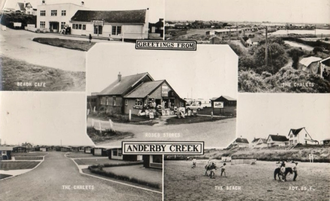 Bottom left: Anderby Chalets at Lakeside, Anderby Creek. (Seaside Lodge is just peeking out at the right!)