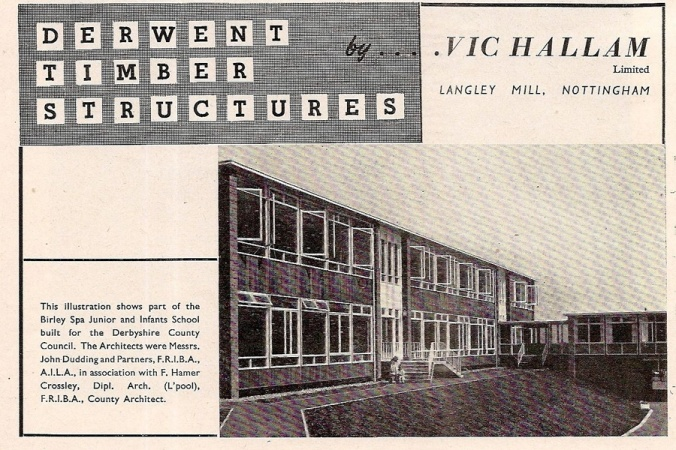 A Vic Hallam 'Derwent' school at Birley Spa in Sheffield.