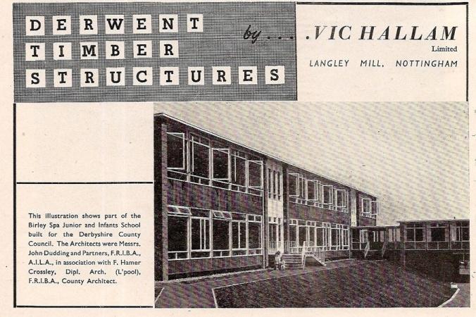 A Vic Hallam 'Derwent' school at Birley Spa in Sheffield.