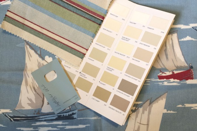 Fun times! Mood boards and colour palettes for Seaside Lodge