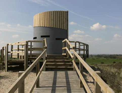 The Round and Round House for wildlife viewing at Anderby Creek