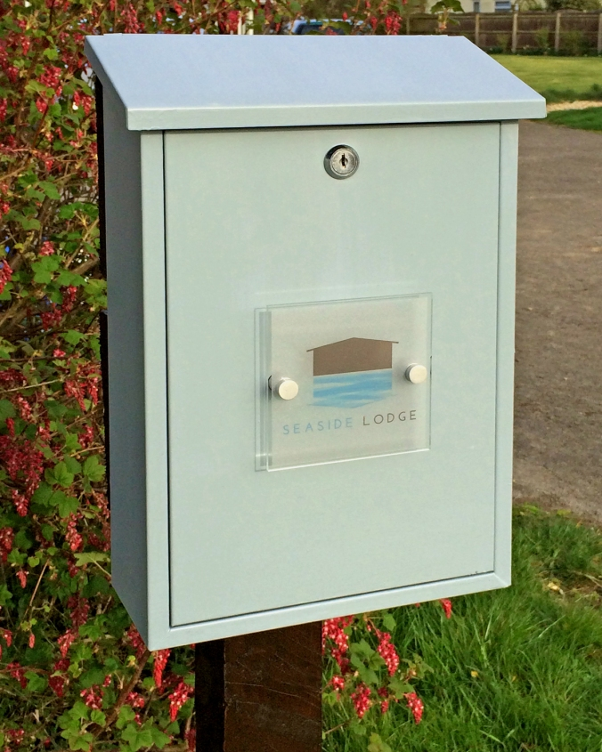 Seaside Lodge's personalised postbox.