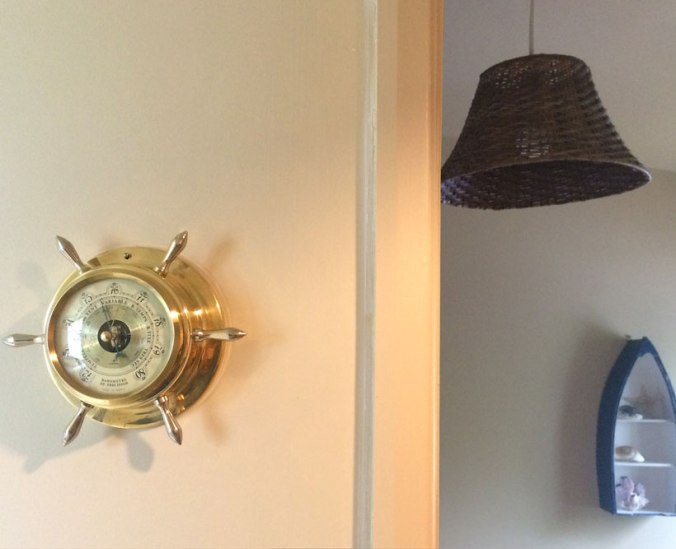 The barometer is another 1950s touch at Seaside Lodge